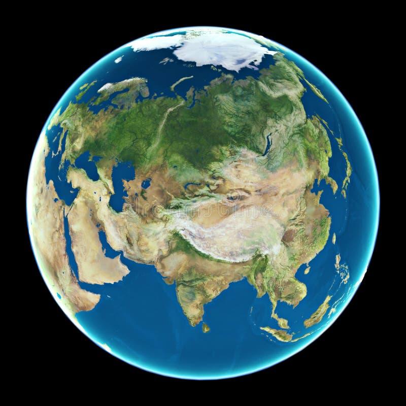 Asien auf Planet Erde stockfotografie