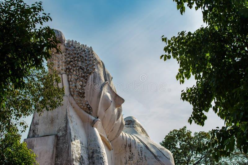 Asien Ayuthaya landskap, Thailand, Wat Phutthaisawan som är forntida royaltyfri fotografi
