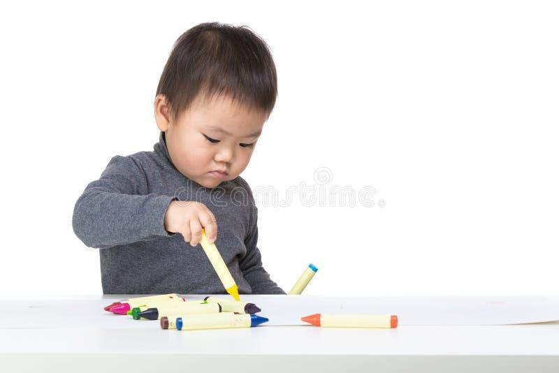 Asien-Babyzeichnung lizenzfreie stockfotografie