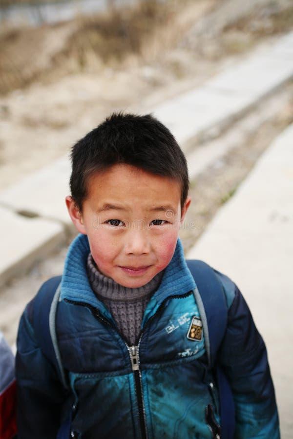 Asien barnpojke arkivbilder