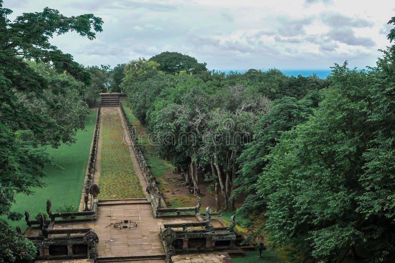 Asien Buriram, Thailand, forntida som är antik royaltyfria foton