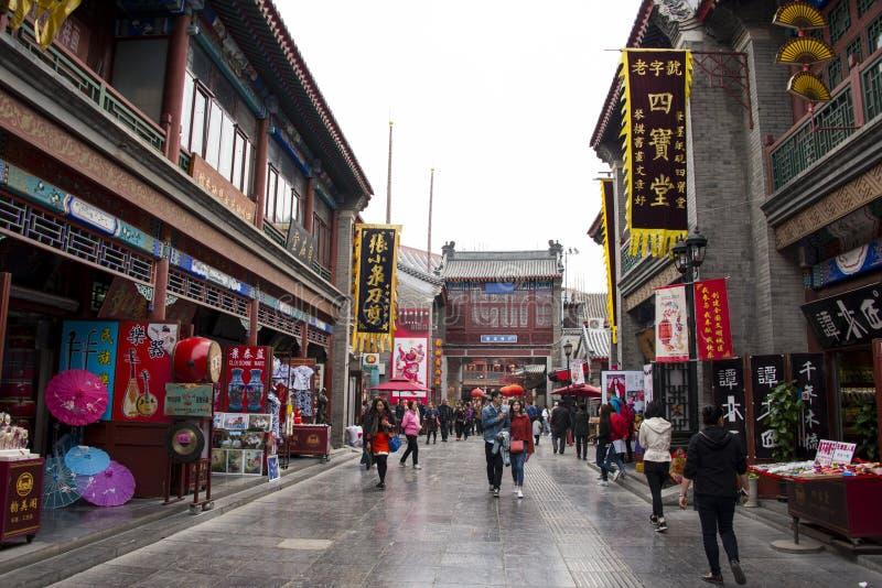 Asien, China, Tianjin, alte Kulturstraße stockfoto