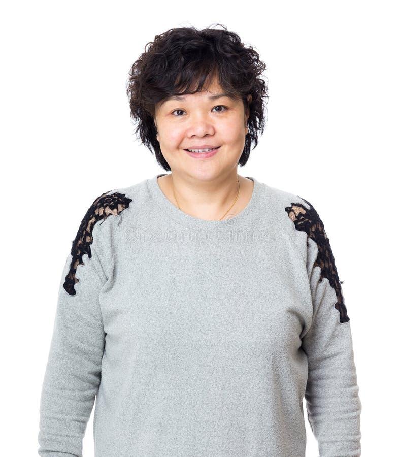 Asien gammal kvinna royaltyfri bild