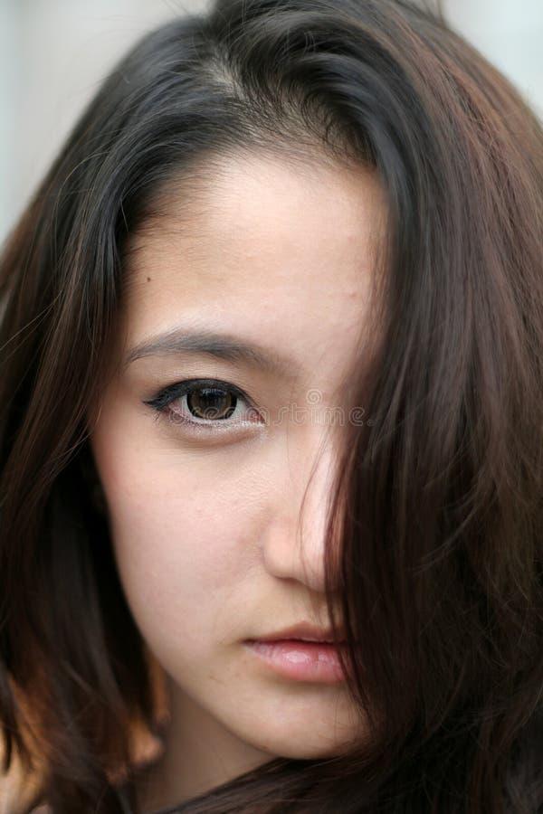 Asien härlig kvinna royaltyfria bilder