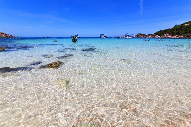 Asien i den khotao stranden vaggar husfartyget Thailand och royaltyfria bilder