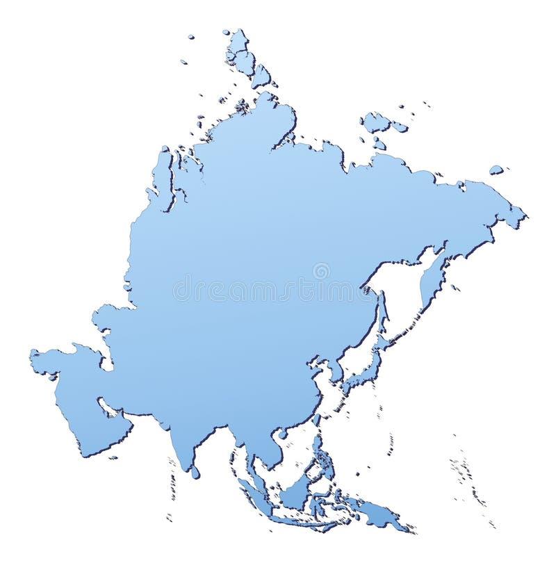 Asien-Karte stock abbildung
