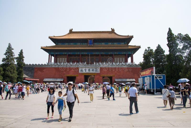 Asien Kina, Peking, den imperialistiska slotten, norr port arkivbilder