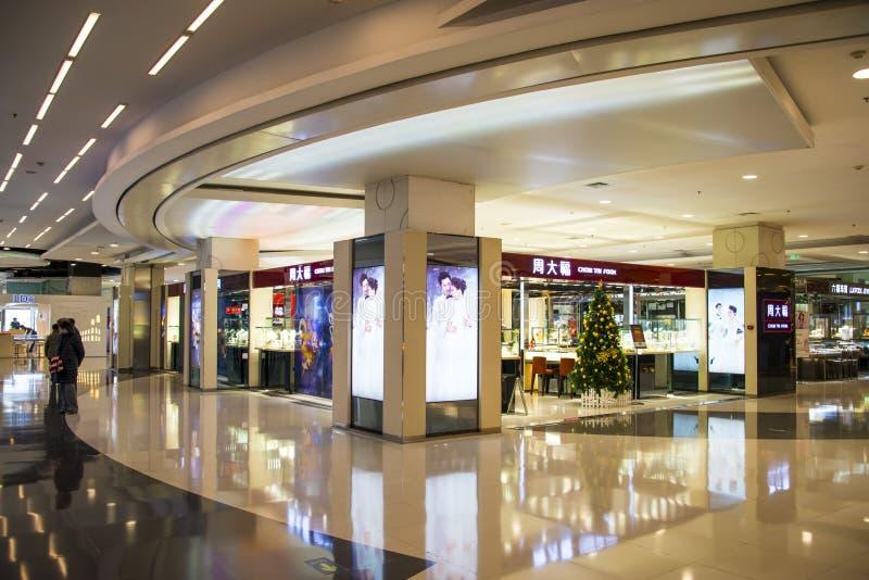 Asien Kina, Peking, härlighetgalleria, shoppar inomhus orienteringen royaltyfria bilder