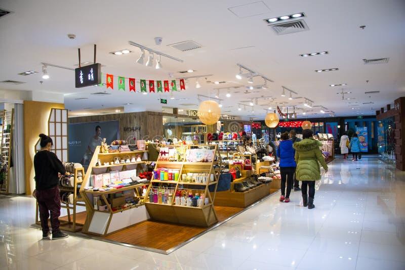 Asien Kina, Peking, härlighetgalleria, shoppar inomhus orienteringen royaltyfri foto
