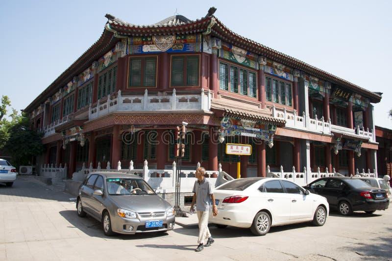 Asien Kina, Peking, södra stad, antika byggnader, royaltyfria bilder