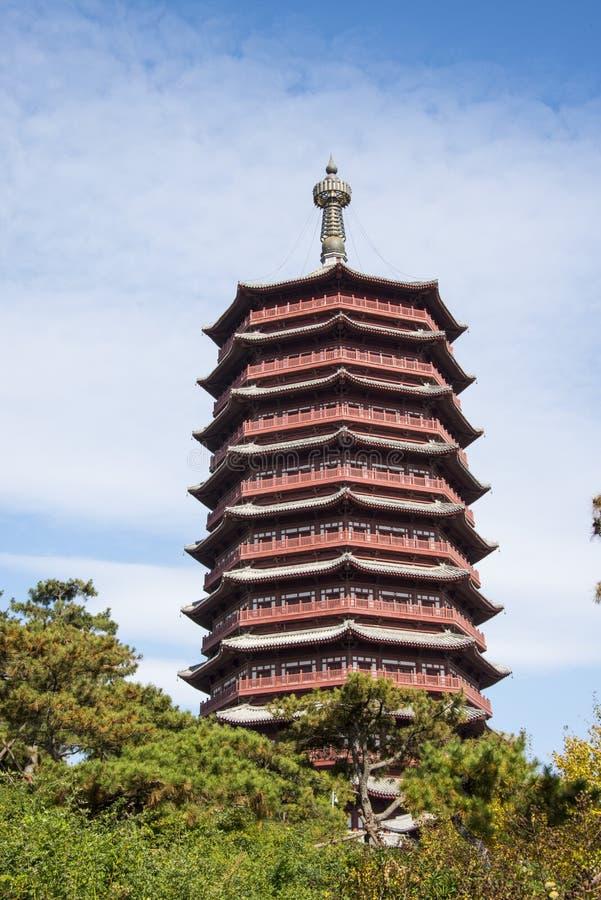 Asien Kina, Peking, trädgårds- expo, Yongding torn, royaltyfri foto