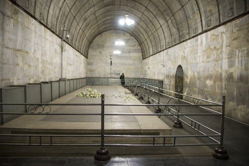 Asien kines, Peking, ŒUnderground för ¼ för Ming Dynasty Tombsï ¼Œunderground palaceï gravvalv arkivbilder