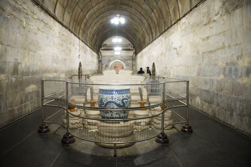 Asien kines, Peking, ŒUnderground för ¼ för Ming Dynasty Tombsï ¼Œunderground palaceï gravvalv fotografering för bildbyråer