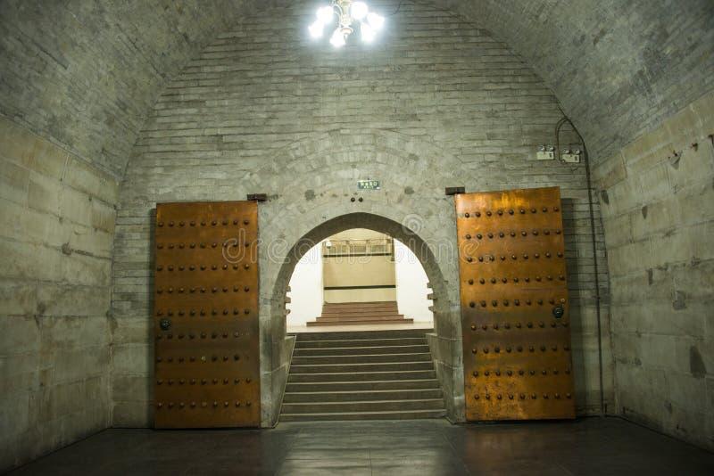 Asien kines, Peking, ŒUnderground för ¼ för Ming Dynasty Tombsï ¼Œunderground palaceï gravvalv royaltyfri fotografi