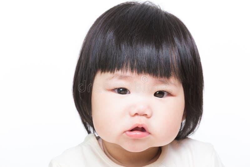 Asien liten flickastående arkivbild