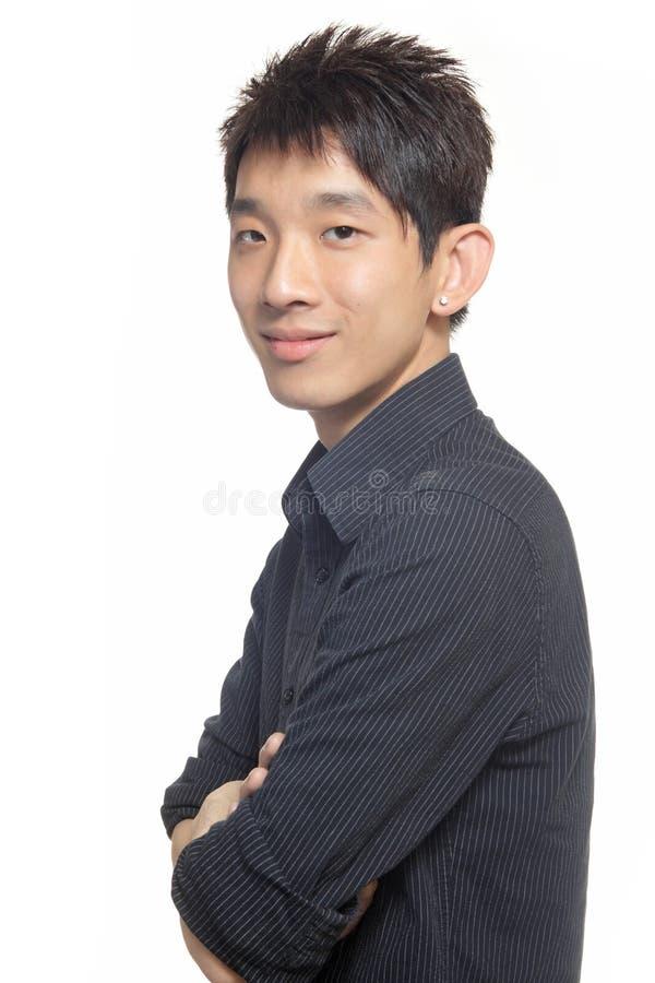 Asien manstanding fotografering för bildbyråer