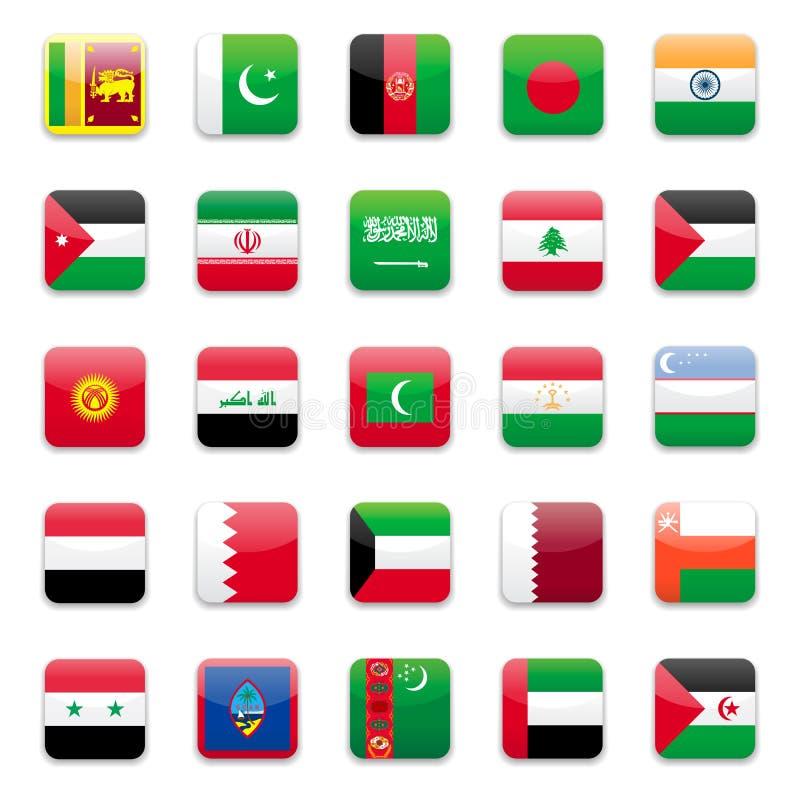 Asien-Markierungsfahne b lizenzfreie abbildung