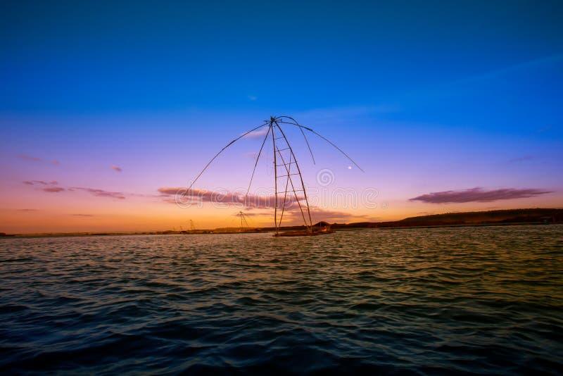 Asien Phatthalung landskap, Thailand, utrustning, fisk royaltyfria bilder