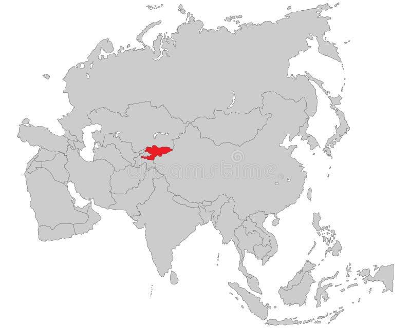 Asien - politische Karte von Asien lizenzfreie abbildung