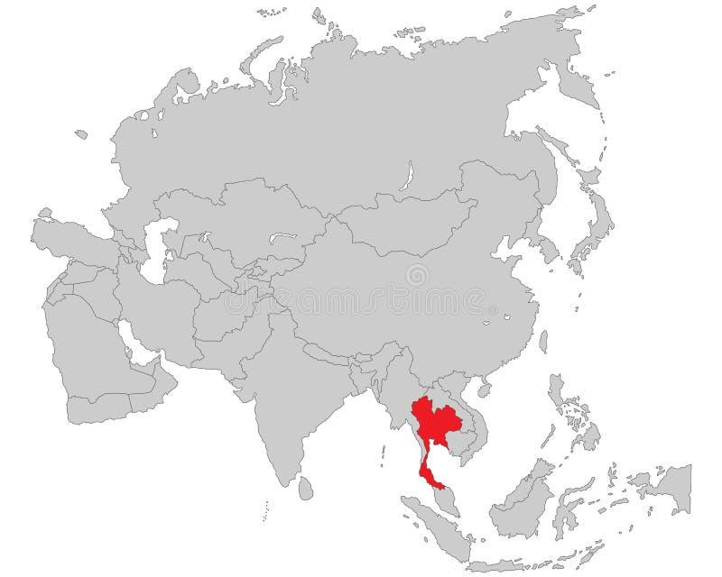 Asien - politische Karte von Asien vektor abbildung
