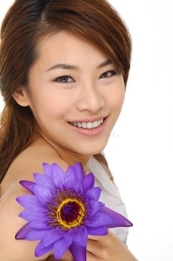 Asien-schönes Mädchen stockbilder