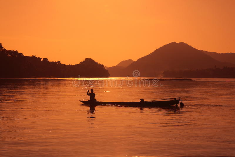 ASIEN SOUTH EAST ASIA LAOS LUANG PRABANG royaltyfria bilder