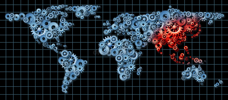 Asien-Wirtschaft lizenzfreie abbildung