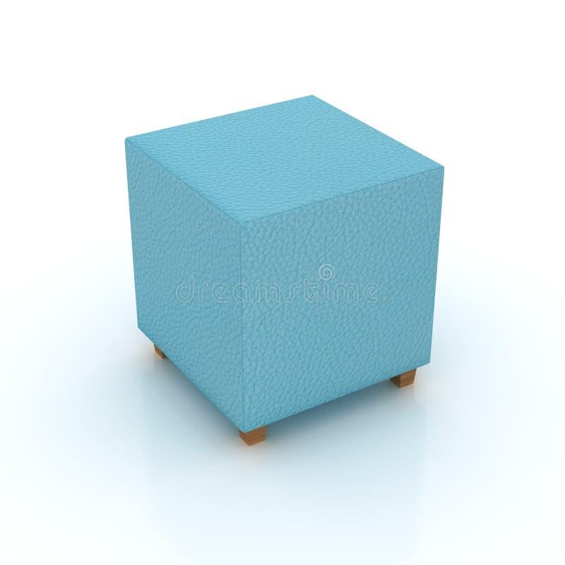 Asiento azul del cubo del mar stock de ilustración