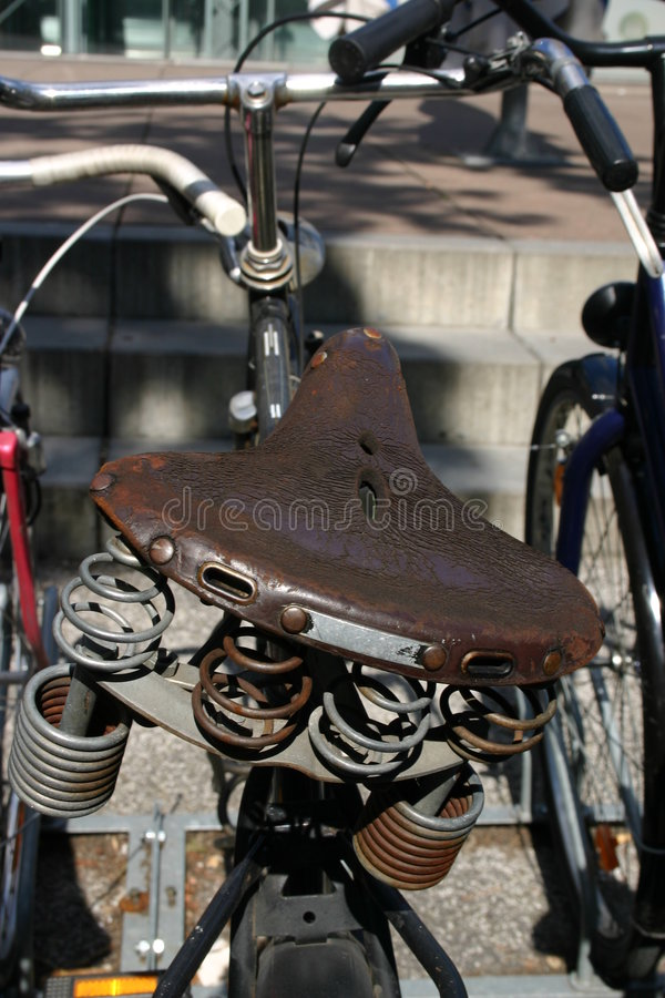 Asiento de bicicleta imagen de archivo