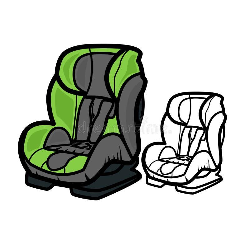 Asiento de carro ilustración del vector