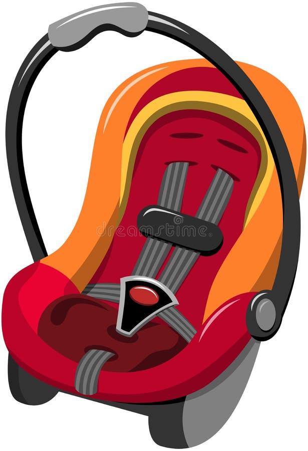 Asiento de coche de bebé aislado stock de ilustración