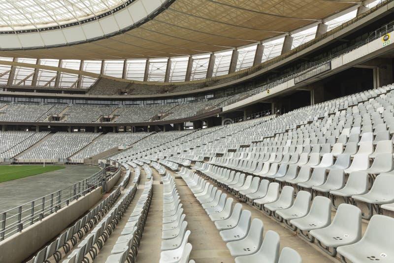 Asiento de espectadores vacío en un estadio fotografía de archivo libre de regalías