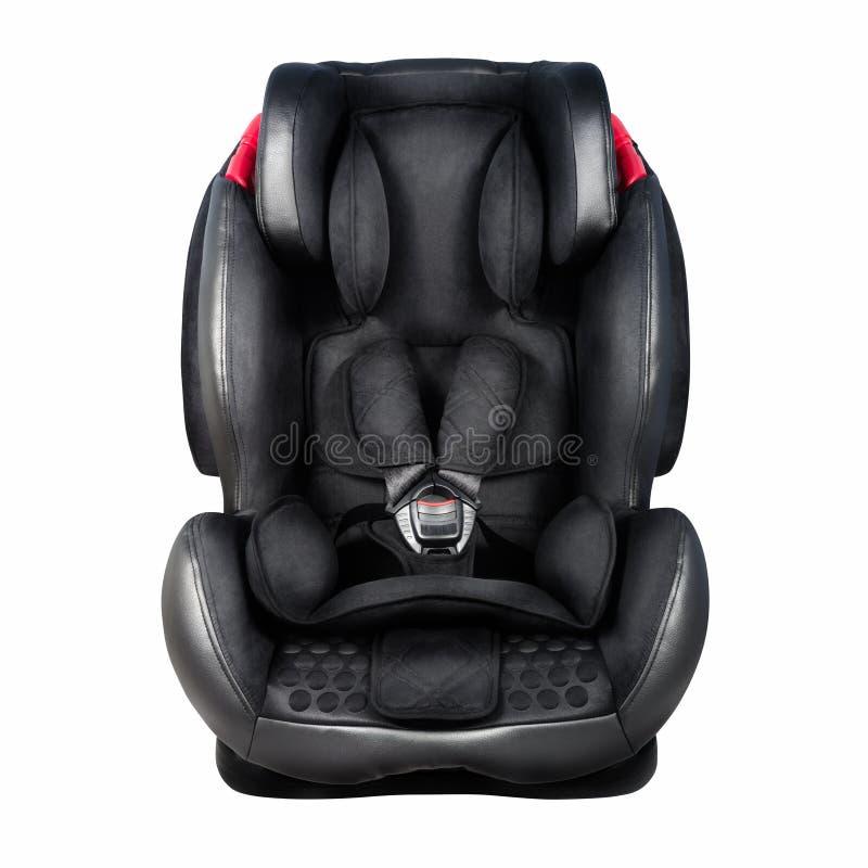 Asiento de la seguridad del niño Asiento de carro del bebé aislado en los wi blancos del fondo fotografía de archivo