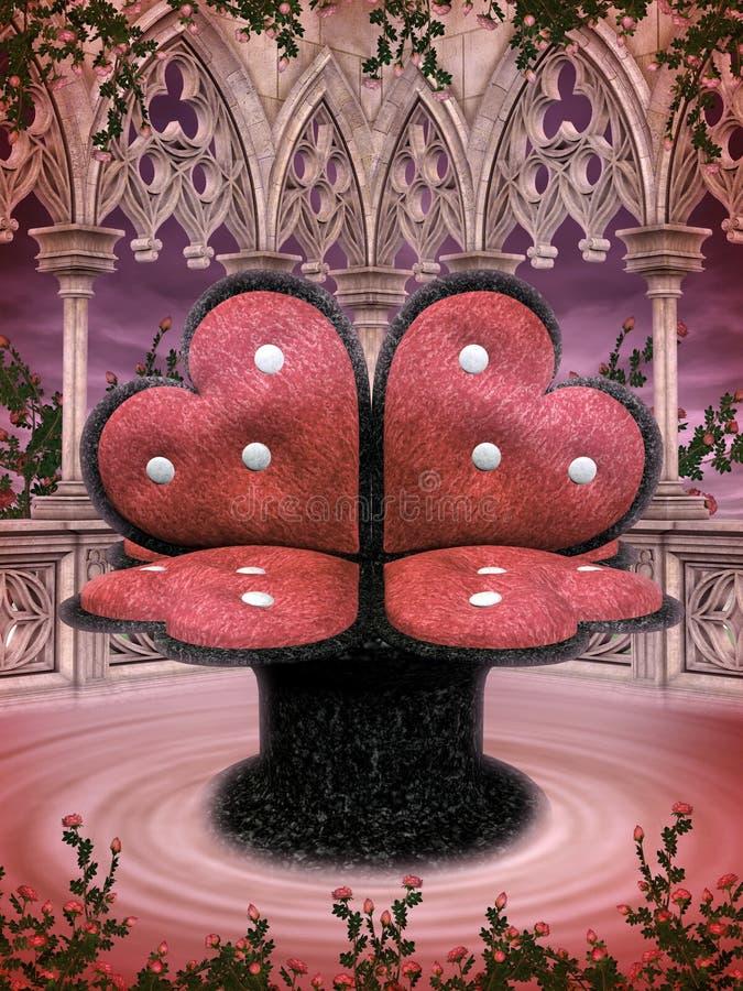 Asiento del corazón de la fantasía stock de ilustración