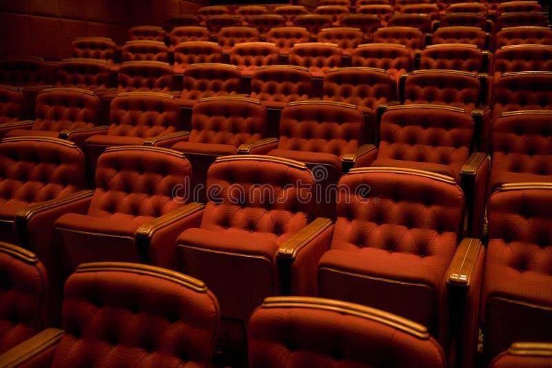 Asiento del teatro foto de archivo