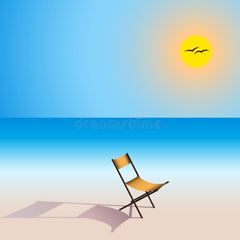 Asiento en playa ilustración del vector