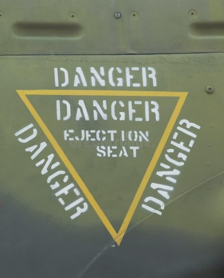 Asiento eyectable del peligro fotos de archivo