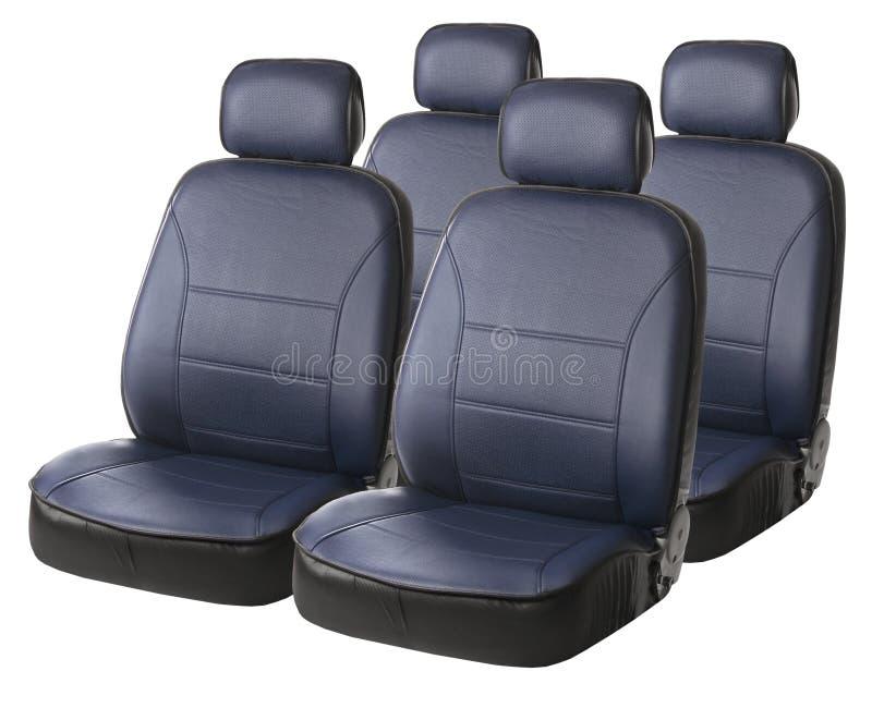 Asientos de carro azules aislados en blanco imagen de archivo libre de regalías