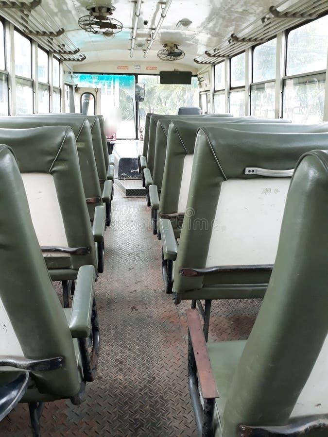 Asientos del autobús imágenes de archivo libres de regalías
