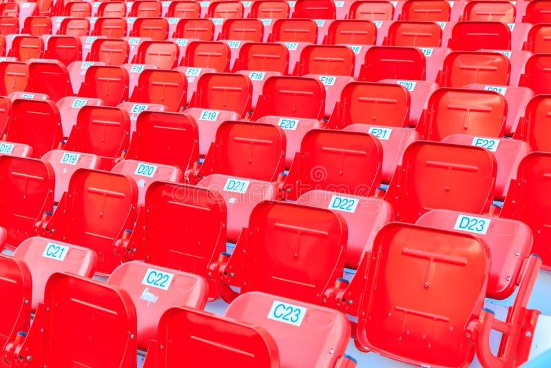 Asientos del estadio/de la arena foto de archivo libre de regalías