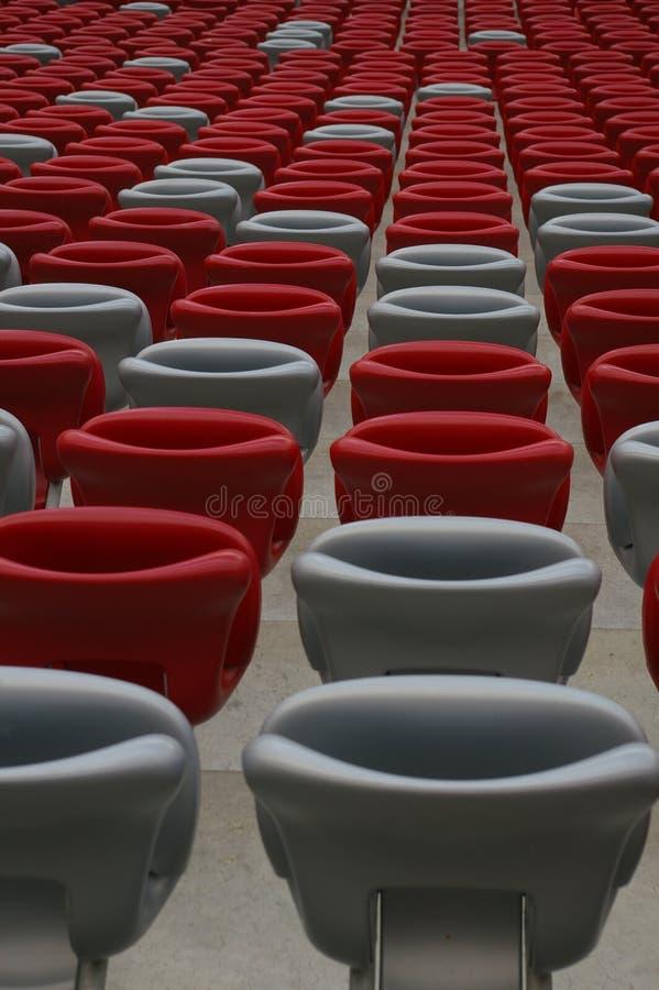 Asientos en el estadio fotografía de archivo libre de regalías