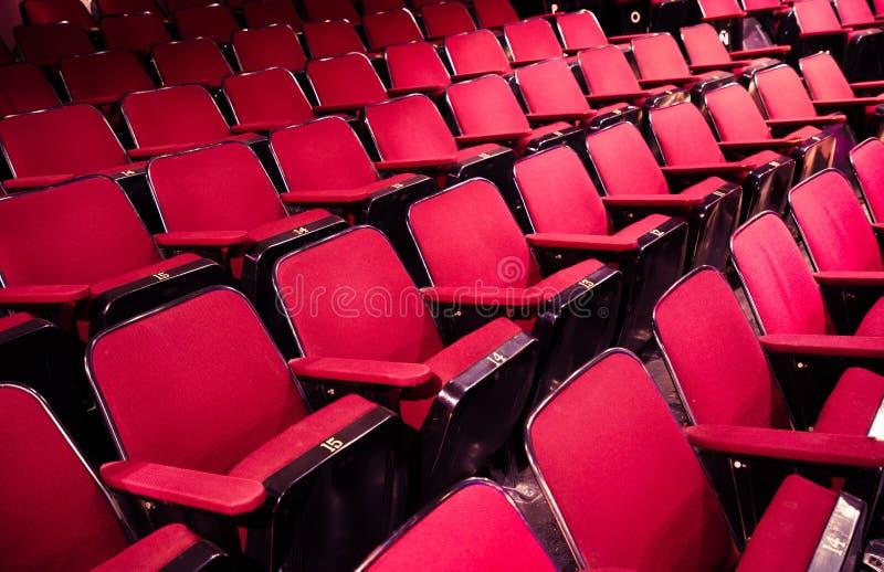 Asientos vacíos de /cinema del teatro foto de archivo libre de regalías