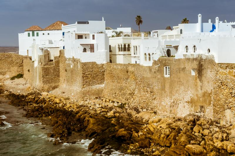 Asilah,摩洛哥洋锋  库存图片