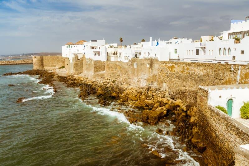 Asilah,摩洛哥洋锋  免版税库存图片