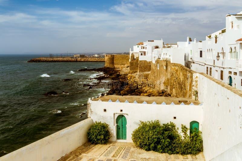 Asilah,摩洛哥洋锋  免版税图库摄影