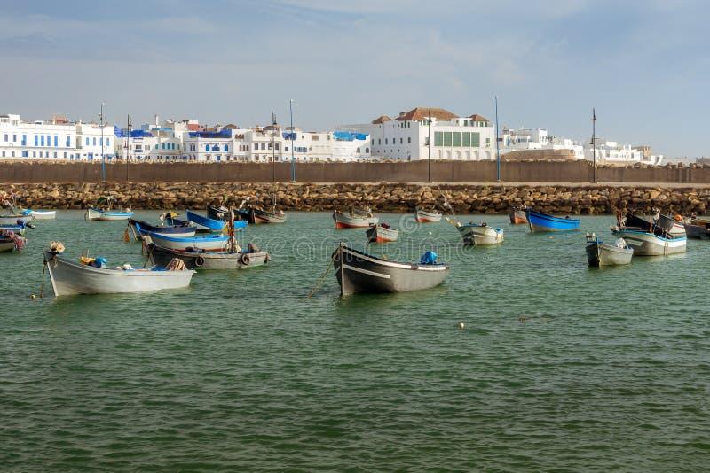 Asilah,摩洛哥港  免版税库存图片