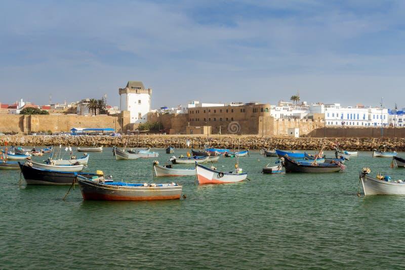 Asilah,摩洛哥港  免版税库存照片