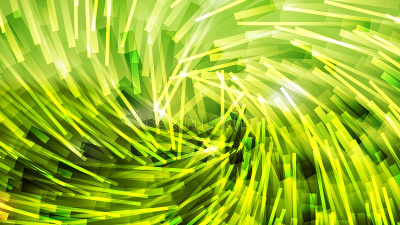 Asimmetria Asimmetrica Asimmetrica di colore verde e giallo casuale delle linee stripate di sfondo illustrazione vettoriale