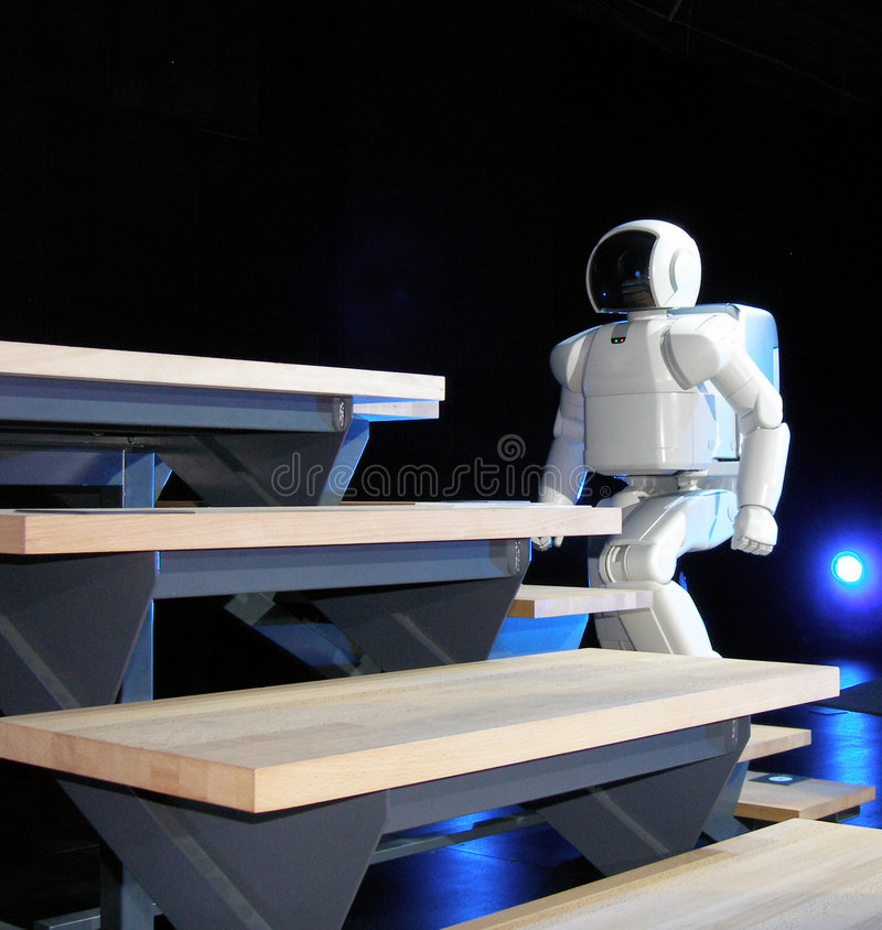 Download Asimo robot walking stock photo. Image of asimo, high, created - 713306