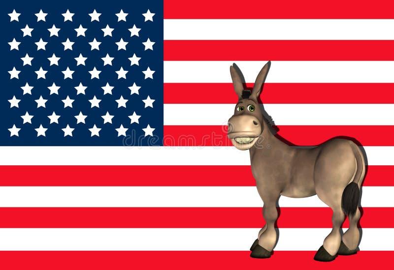 Asino del Democrat - 2 illustrazione vettoriale